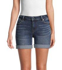true religion women's jayde rolled-cuff denim shorts - indigo - size 26 (2-4)