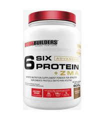 6 six protein advanced c/ zma pote 900g chocolate - bodybuilders