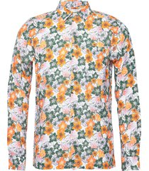 larch ls flower shirt - ocs/vegan overhemd casual multi/patroon knowledge cotton apparel