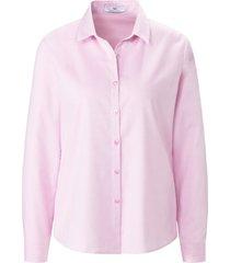 blouse van 100% katoen met lange mouwen van peter hahn lichtroze