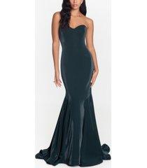 xscape strapless mermaid gown