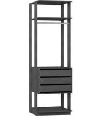 estante gaveteiro 700 expresso be mobiliã¡rio - cinza - dafiti