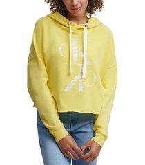 calvin klein jeans distressed logo hoodie
