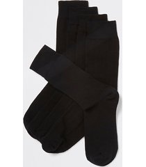 river island mens black socks 5 pack