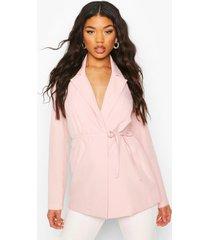 tie detail blazer, pink