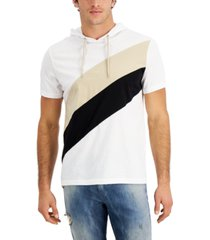 inc international concepts men's colorblocked short-sleeve hoodie, created for macy's