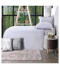 jogo de cama 200 fios casal 100% algodáo pentado toque macio  classique - bene casa