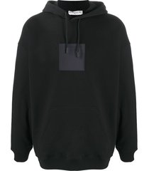 givenchy square logo patch hoodie - black