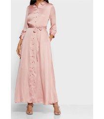 vestido savannah maxi rosa banana republic