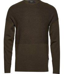 bentley compact wool gebreide trui met ronde kraag groen matinique
