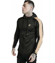 trainingsjack siksilk cope satin zip through hoodie