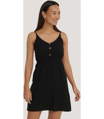 trendyol button detail mini dress - black
