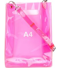 nana-nana 'a4' sheer tote bag - pink