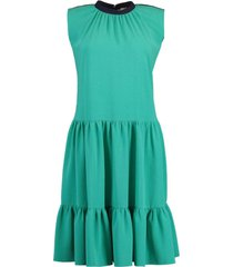 athisa sleeveless two tone dress