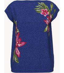 tommy hilfiger women's essential floral sweater t-shirt surf the web multi - xs