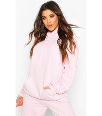 the basic mix & match oversized hoodie, blush