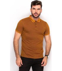 camiseta polo teodoro slim jaquard casual conforto masculina - masculino