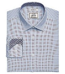 1905 collection tailored fit spread collar dot print dress shirt, by jos. a. bank