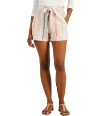 indigo rein juniors' striped tie-waist soft shorts