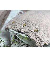 lniana poszewka na poduszkę z falbanką