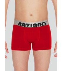 boxer algodón lycra basico rojo baziani