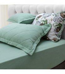 conjunto de lençol king pertutty malha em algodão premium