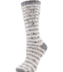 jeweled marled knit crew socks