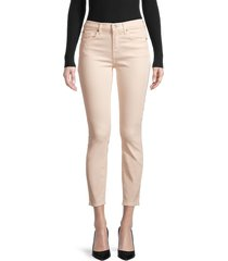 7 for all mankind women's gwenevere skinny ankle jeans - beige - size 25 (2)