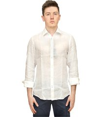regular fit shirt in chambray linen