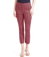women's nic+zoe cocktail hour crop pants, size 6 - red