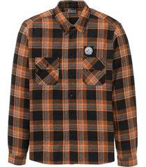camicia in flanella slim fit, molto calda (arancione) - rainbow