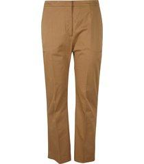 aspesi flared cuffs plain trousers