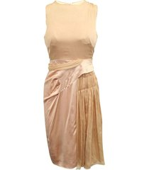 elegant peach evening dress