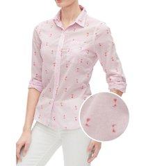 blusa boyfriend print rosado gap