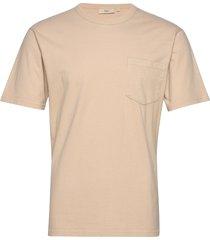 haris t-shirts short-sleeved beige minimum