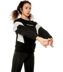 buzo negro-blanco-gris new balance classic fleece t