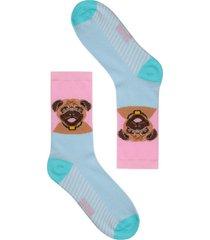 calcetín perro pug multicolor gazoo