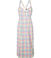 anya rainbow gingham dress