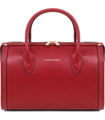 tuscany leather tl141829 elena - bauletto in pelle rosso