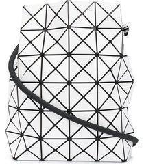 bao bao issey miyake lucent drawstring crossbody bag - white
