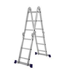 escada multifuncional 4x3 dobrável com plataforma 5133 mor