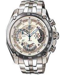 reloj casio ef-550d-7a analogo 100% original-gris