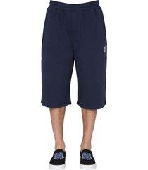 kenzo cotton sweatshirt shorts