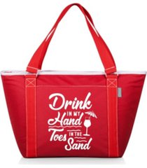 "oniva ""drink in my hand toes in the sand"" topanga cooler tote bag"