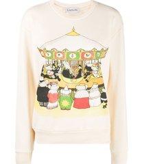 lanvin printed sweatshirt - neutrals