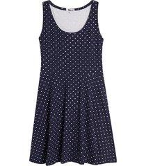 vestido pepas color azul, talla s