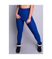 calça legging mvb modas bolha saia feminina azul