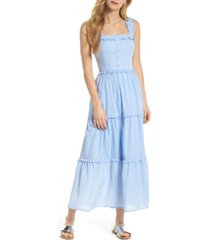 women's gal meets glam collection courtney rio stripe lawn maxi dress