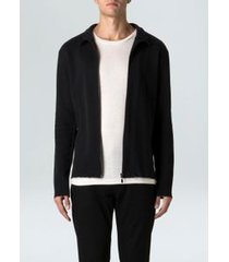 casaco fit texture-preto