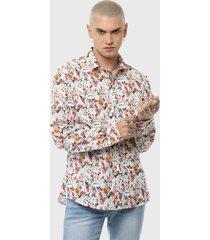 camisa casual print flores multicolor soviet